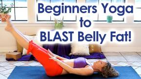 beginners yoga - blast belly fat