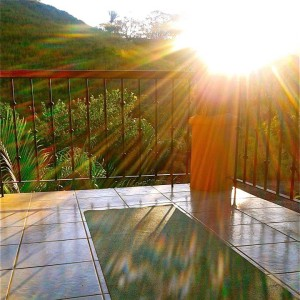 sunrise morning yoga mat costa rica