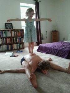 Callison Yoga with Daughter
