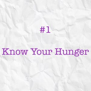 know your hunger